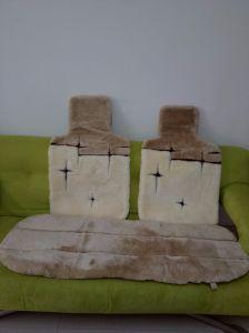 Universal Sheepskin Auto Car Seat Cover Set Five Pieces pictures & photos