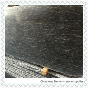 Chinese Black and White Granite Slab (Snow in night-line flower) pictures & photos