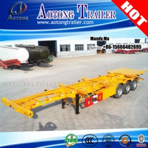 40ft Container Gooseneck Semi Trailer, Gooseneck Chassis Trailer pictures & photos