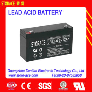 CE Certificate, Hot Sale Lead Acid Battery 6V 12ah pictures & photos