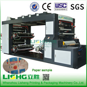 4 Colour High Speed Kraft Paper Bag Flexo Printing Machine pictures & photos