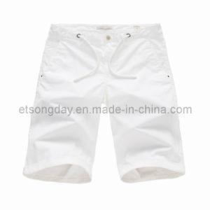 White Cotton Spandex Men′s Shorts (MR47838S) pictures & photos