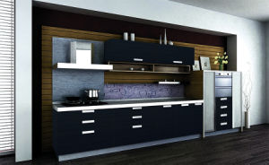 Modern Acrylic Demet MDF Board Hanging Kitchen Cabinet pictures & photos