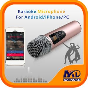 Karaoke Microphone for Andriod iPhone PC, Exclusive Function: Original Songs Vocal on/off pictures & photos