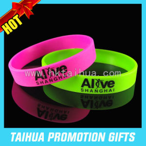 Promotion Custom Thin Silicon Bracelet (TH-08914) pictures & photos