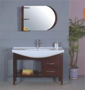 120cm MDF Bathroom Cabinet Furniture (B-201) pictures & photos