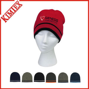 2016 Hot Sale Custom Knit Acrylic Reversible Beanie (kimtex-310) pictures & photos