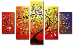 Handmade Abstract Tree Oil Painting on Canvas for Home Decor (LA5-064) pictures & photos