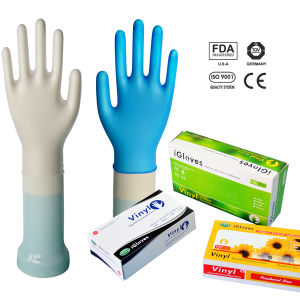 Powder Exam Gloves for Vinyl with En455 Certificate pictures & photos