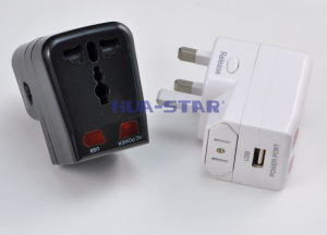 Multi-Nation Travel Adapter with USB Charger (HS-T095U) pictures & photos