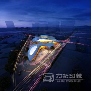 Nightfall View Architectural Visualization Effect Drawing