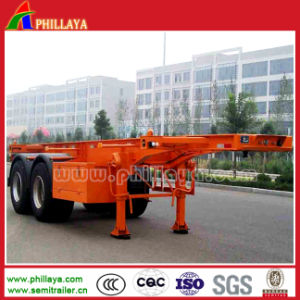 Double Axles 20FT Container Flatbed Trailer pictures & photos