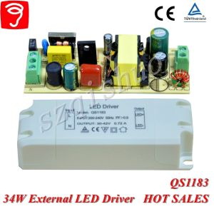 34W Hpf Singel Voltage Isolated External LED Power Supply with Ce TUV QS1183 pictures & photos
