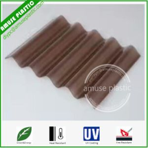 Bronze Colors Light Weight Lexan PC Corrugated Roofing Boards UV-Protected pictures & photos