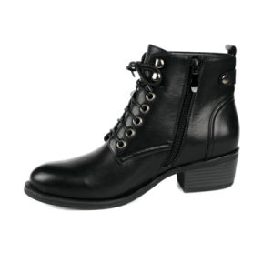 Winter Shoes Low Heel Ankle Boots for Women pictures & photos