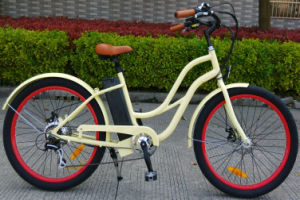 Hot Sale Step Through Style Beach Cruiser E-Bike pictures & photos