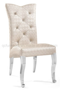 Dining Chair with Soft Cushion Stainless Steel Leg pictures & photos