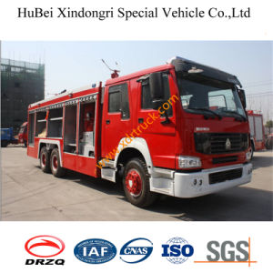 11ton HOWO Dry Powder Fire Truck Euro3 pictures & photos