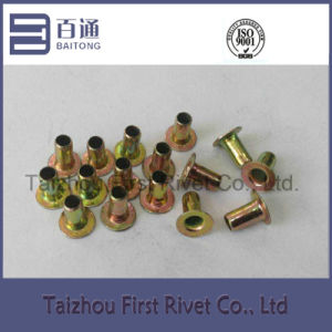 5X8mm Yellow Zinc Plated Fully Tubular Iron Rivet