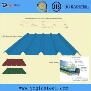 0.12-1.5mm Thickness PPGI/PPGL Corrugated Roofing Sheet pictures & photos