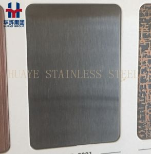 Black Titanium Grey Stainlesss Steel Decorative Colored Sheet Wall Panel pictures & photos