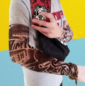Summer Fashion Tattoo Sun Protection Gloves pictures & photos