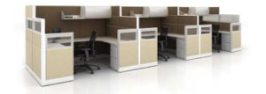 Japanese High Quality Office Furniture Frosted Acrylic Desk Screen pictures & photos