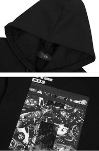Wholesale Man Black Plain Hoodie pictures & photos