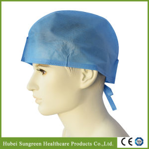 Machine Made Non-Woven Surgical Cap, Doctor Cap with Ties pictures & photos