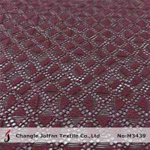 Textile Knitted Geometric Cotton Lace Fabric Wholesale (M3439) pictures & photos