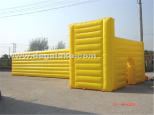 Giant Inflatable Yellow Cube Tent for Event, Party Customized
