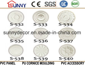 PU Ceiling Ornaments High Density Beautiful Decorative PU Polyurethane Ceiling Medallion pictures & photos