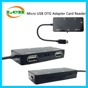 Android Micro-USB to 2*USB TF/SD Card Reader OTG Hub Adapter pictures & photos