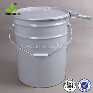 5 Gallon Tinplate Paint Bucket Pail with Lid Handle Wholesale pictures & photos