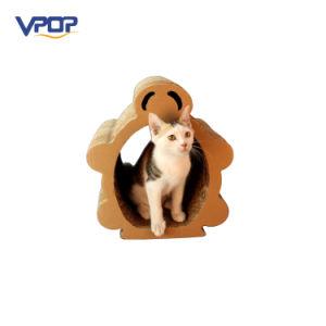 Cute House Shape Wholesale Corrugated Cardboard Cat Scratcher pictures & photos