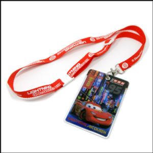 Customized Logo Plastic Badge Reel ID Card Name Badge with Lanyard (NLC025) pictures & photos
