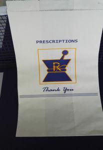 White Prescription Printed Rx Paper Bag pictures & photos