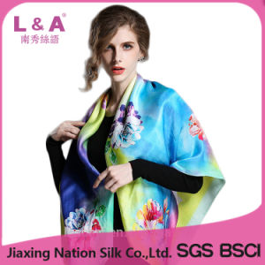 OEM Print Silk Scarf for Women