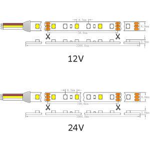 Epistar 1210 Variable White Color 120LEDs/M LED Strip pictures & photos