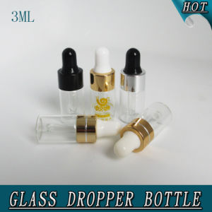 3ml Refillable Mini Clear Olive Oil Perfume Glass Dropper Pipette Bottle pictures & photos