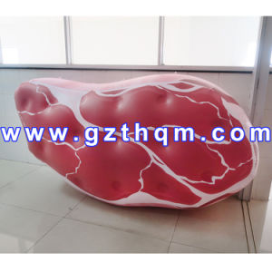 Giant Inflatable Food Steak Pizza Model for Advertisement/Inflatable Food Model pictures & photos