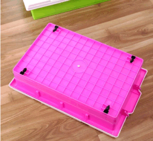 High Quality Plastic Products 25L Underbed Plastic Storage Box Shoes Box Gift Box Toys Box with Wheels pictures & photos