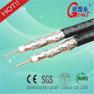 Copper Conducted Fpe Insulated Rg59 RG6 CCA Braiding Coaxial Cable pictures & photos