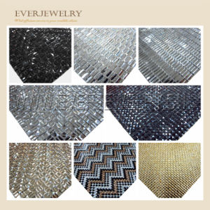 24*40 Ss6 Ss8 Clear Rhinestone Mesh Sheet Transfer, Hot Fix pictures & photos