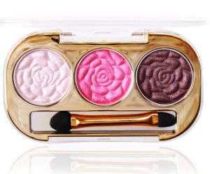 Creative Flowers Pattern Make-up 3 Colors Eye Shadow Palette pictures & photos
