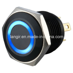 16mm Black Anodized Aluminum Reset Short Body Metal Switch pictures & photos