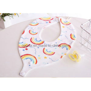 New Plain Triangle Baby Bandana Drool Bibs with Pacifier Clip pictures & photos