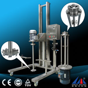 Fuluke 10-100L Pneumatic Lifting Moveable High Shearing Disperser Homogenizer Machine pictures & photos