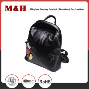 Cartoon Large Capacity Black Travel Leather Bag Backpack pictures & photos