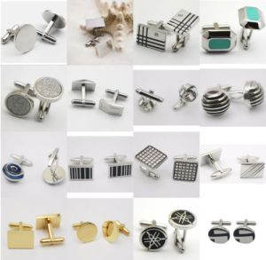 Gentleman′s Jewelry Stainless Steel Cufflinks pictures & photos